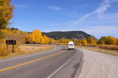 national parks: Scenic of road trip in national parks
