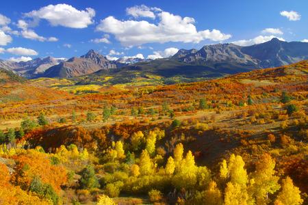 divides: Paisaje divisi�n continental en Colorado Foto de archivo