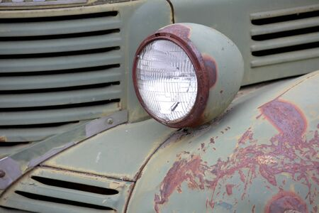 Old truck head lamp photo