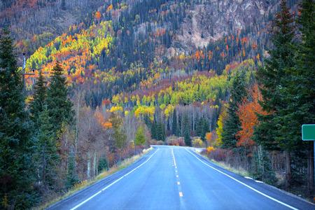 Million dollar high way in autumn time