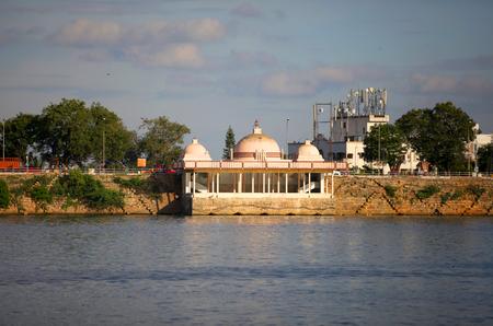 sagar: Lake Hussain sagar Stock Photo