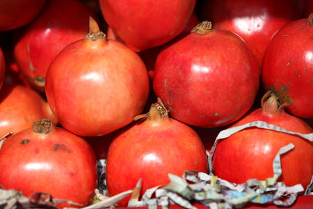 riped: Arrangement of many riped Pomegranate fruits