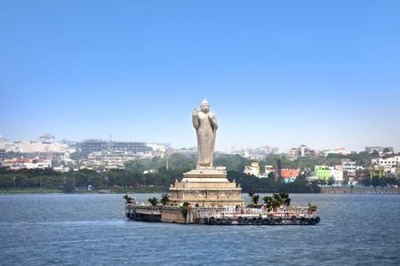 Buddha statue in Hyderabad