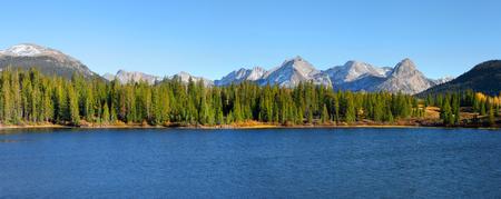 taylor: Panoramic view of scenic Molas lake in colorado