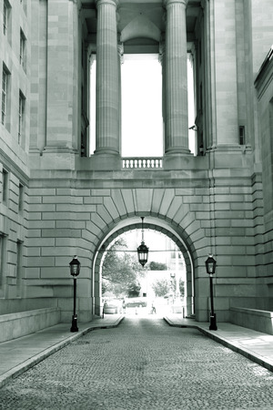 federal: Federal building entrance