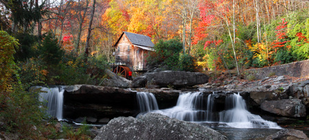 Glade creek grist mill in Babcock state park Stock Photo