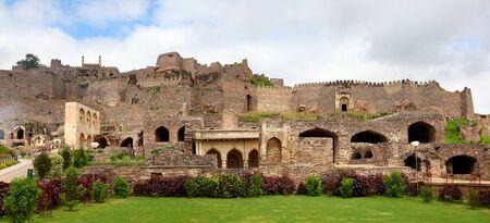Panoramic view of Historic Golkonda fort in Hyderabad India Editorial