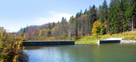 thomas: Small dam near Thomas West Virginia Stock Photo