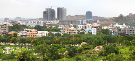 hyderabad: Hyderabad  city India Stock Photo