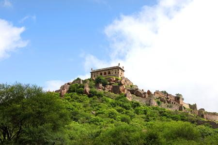 Historic Golkonda fort in Hyderabad India.