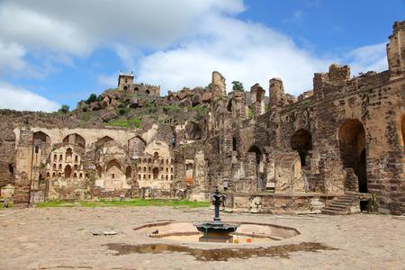 Golkonda fort in Hyderabad in India