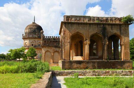 hyderabad: Qutbshahi tombs in Hyderabad Stock Photo