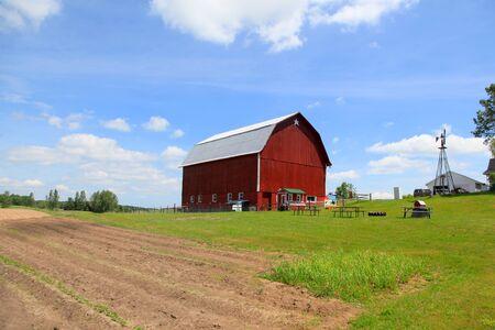 Red Barn near Traverse city in Michigan