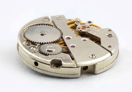 focus stacking: Watch mechanism Stock Photo