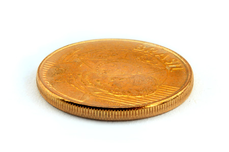 25 cents: 25 Brazilian real centavos coin