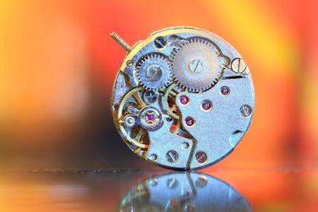 mechanism: Watch mechanism Stock Photo