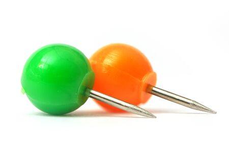 push: Two round push pins