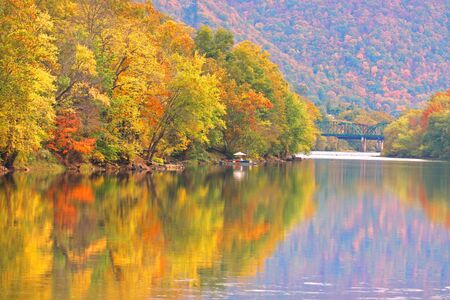 west virginia trees: Autumn reflections