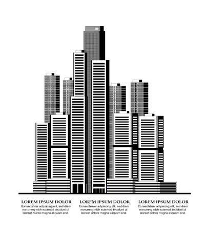 computer simulation: Vector illustration of smart city concept Illustration