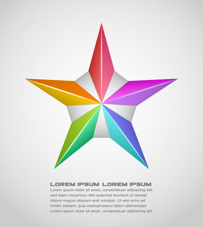 Vector illustration of colorful star design element