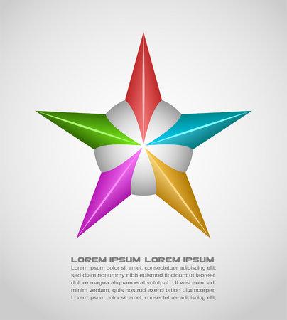 polyhedral: Vector illustration of star design element