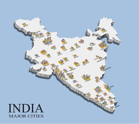 인도 도시 인구지도