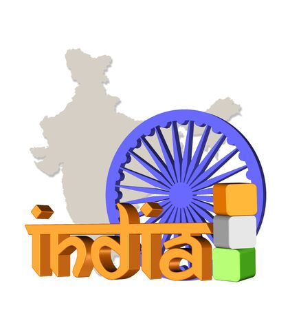 3d illustration of India theme Reklamní fotografie