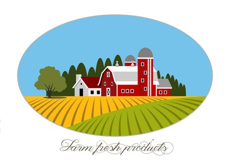 Vector illustration of farm fresh icon