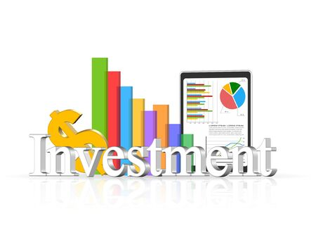 investment concept: An illustration of 3d investment concept