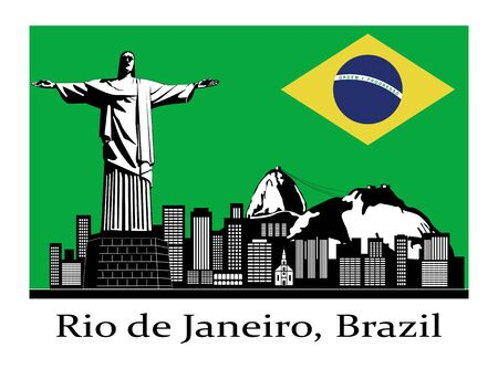 federal district: An illustration of Rio de Janeiro, Brazil poster contest.
