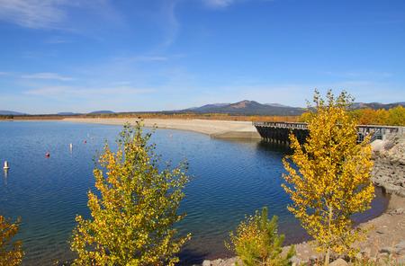 jackson: Scenic Jackson lake in Wyoming