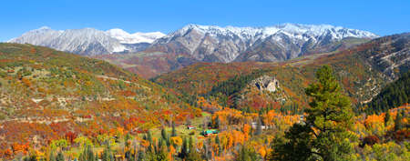 pass on: Autumn landscape in Colorado Stock Photo