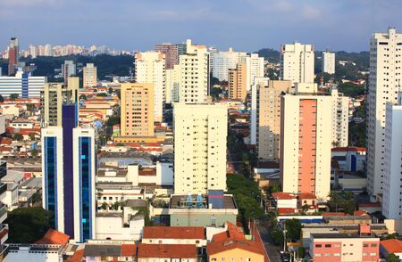Apartment buildings in Sao Paulo city