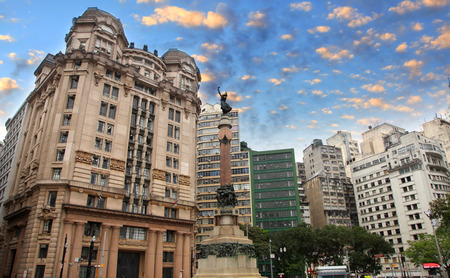 historic buildings: Historic buildings in Sao Paulo downtown