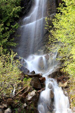 mount rainier: Water falls in Mount Rainier national park