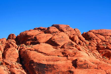 rock canyon: Red rock canyon in Nevada Stock Photo
