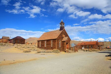 bodie: Old church in ghost town Bodie, California.