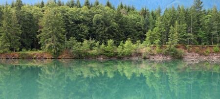 skagit: Riffe lake in Washington state Stock Photo