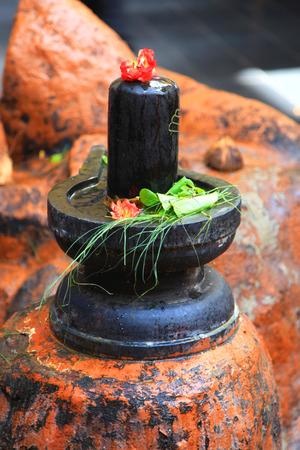 monolith: Shiva lingam monolith statue ,Hindu god