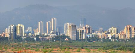 new age: Mulund landscape suburbs of Mumbai city in India
