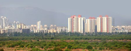 residential building: Mulund landscape suburbs of Mumbai city in India
