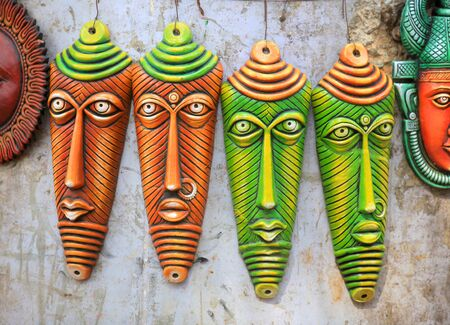 hand crafted: Colorful hand crafted masks of India