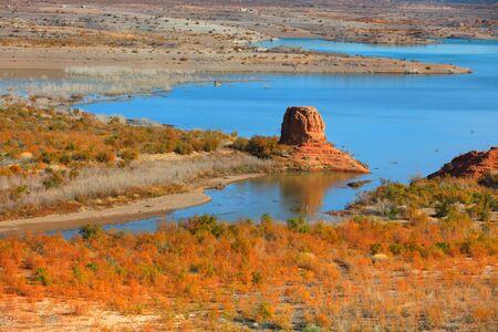 jezior: Scenic Lake Mead krajobraz w Nevadzie