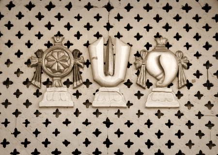 chakra: Vishnu, Chakra, tilak and shell