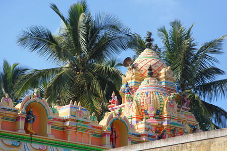 Hindu temple architecture in Bangalore city near maruthahalli