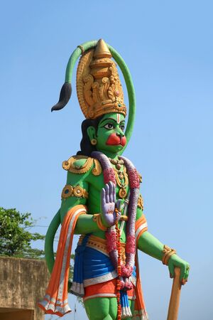 hanuman: Hindu god mighty Hanuman statue