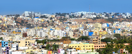 hyderabad: Hyderabad city panoramic view