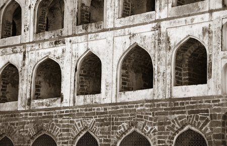 mogul: Architecture of historic Golconda fort in Hyderabad ,India