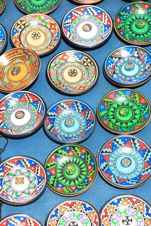 hand crafted: Colorful Brazilian hand crafted plates