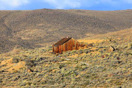 bodie: Old home in California desert near Bodie Stock Photo